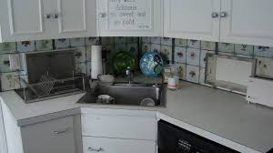 Kitchen  Marble Countertop With Corner Kitchen Sink Also - Corner kitchen sink cabinet