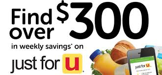 albertsons click your way to savings with u201cjust for u u201d