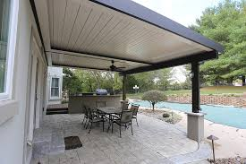 Louvered Patio Roof Aesthetic Design U0026 Build Louvered Roof Portfolio St Louis