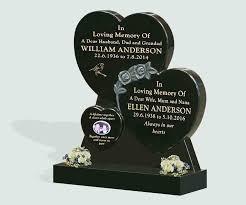 headstones and memorials polished black granite headstone memorials of distinction