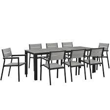 9 Pc Patio Dining Set by Modway Maine 9 Piece Outdoor Patio Dining Set U2013 Modish Store