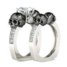 skull wedding bands skeleton wedding rings justanother me