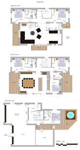 floor plans chalet robin more mountain morzine