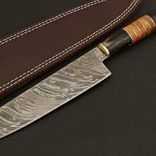 damascus kitchen knife 9008 black forge knives touch of modern