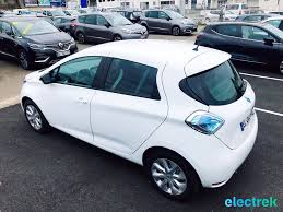 renault europe 4 renault zoe white 5 door sideview electric vehicle battery