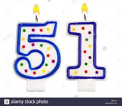 number birthday candles birthday candles number fifty one stock photo 86374575 alamy