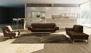 Leather Livingroom Set Astro Sofa Set In Chocolate Color Thick Italian Leather By J U0026m