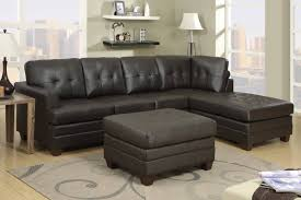 modern sectional dobson black leather modern sectional sofa