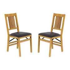 Bed Bath And Beyond Bloomington In Stakmore True Mission Wood Folding Chairs Set Of 2 Bed Bath