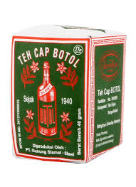 Teh Bubuk cap botol teh bubuk hijau pck 40g klikindomaret