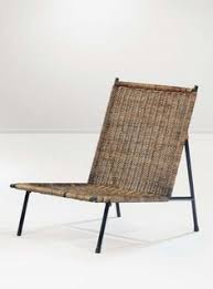 design lounge mã bel carl auböck enameled iron and wicker chair c1951 furniture