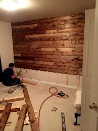 wooden accent wall tutorial country decor pinterest
