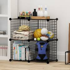amazon com kousi wire cube storage metal shelving unit bookcase