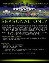 current job opportunities tsa employment u2014 tampa sports authority