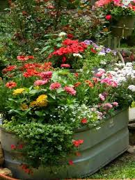 Galvanized Trough Planter by A Country Garden Like No Other Galvanized Tub Tubs And Planters