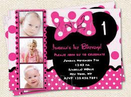 minnie mouse custom birthday invitations stephenanuno com
