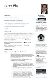 Industrial Design Resume Examples by Product Manager Resume Samples Visualcv Resume Samples Database