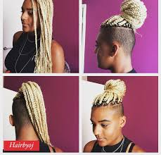 waist length medium sized white blonde box braids hairbyoj