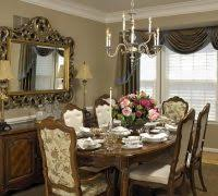 large silver decorative mirrors dining room traditional with