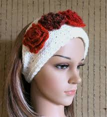 knitted headband knitted headband womens chunky knit ear warmer crochet flower
