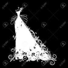 wedding dress clipart bride sketch pencil and in color wedding