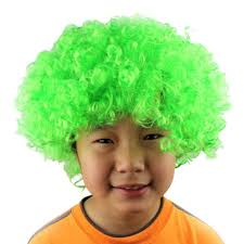 newest halloween clown curly afro circus fancy dress hair wigs