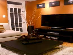 orange livingroom interior attractive orange paint for home interior
