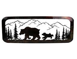 smw377 custom metal wilderness bear wall art sunriver metal works