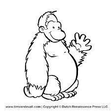 gorilla clipart black and white pencil and in color gorilla