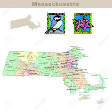 Massachusetts Map Usa States Series Massachusetts Political Map With Counties