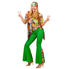 60s 70s groovy lady hippy flower power womens ladies fancy