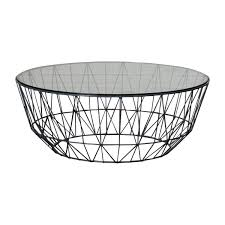 Wire Coffee Table Interiors Studio Wire Glass Coffee Table Slate Modern