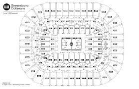 Aac Map Seating Chart See Seating Charts Module Greensboro Coliseum