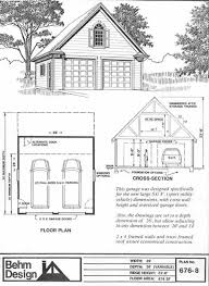 Double Car Garage Size Colonial Style Suv Sized Two Car Garage With Attic Truss Roof Plan
