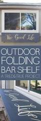 Wasted Space by Outdoor Folding Bar Shelf Bar Shelves Shelves And Bar