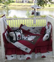 fascinating white outdoor crib with red halloween bedding set