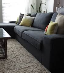 amazing kivik sofa and chaise lounge dansbo dark gray for your