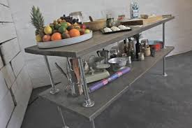 deanna reclaimed grey washed scaffolding board kitchen island