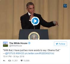 Drop Mic Meme - obama drops the mic and roasts trump at his final white house