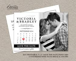 calendar save the date diy printable calendar save the date postcard photo save the