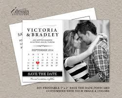 diy save the dates diy printable calendar save the date postcard photo save the