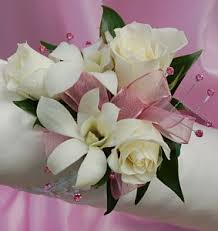 white orchid corsage white sweetheart and white orchid corsage pink