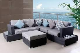 Patio Furniture Sectional Seating - furniture cool sectional sofa and ottoman by costco patio furniture