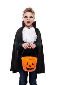 Vampire Halloween Costumes Boys Cute Boy Dressed Vampire Halloween Holding Pumpkin