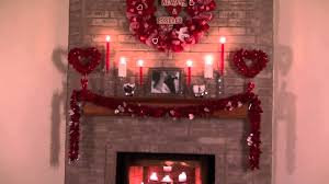 romantic valentines day fireplace decor idea youtube