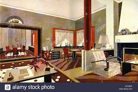 Art Deco Interior by 1930s France Art Deco Interior Magazine Advert Detail Stock Photo