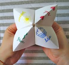 how to make a paper fortune teller easy