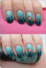 easy to make heart nail art tutorial