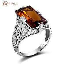 big vintage rings images Brand vintage real 925 sterling silver big brown stone amber ring jpg
