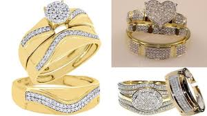 engagement couples rings images Couples wedding and engagement rings set latest designer gold jpg